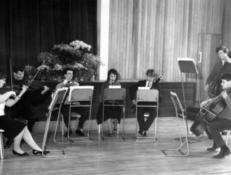Beethoven Septet with members of the Brighton Youth Orchestra 1962. (JP third left)